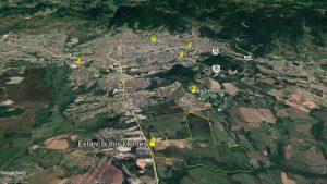 Localização do Núcleo Urbano da Idealiza onde serão implantados a Escola Modelo e o Condomínio Estância dos Montes