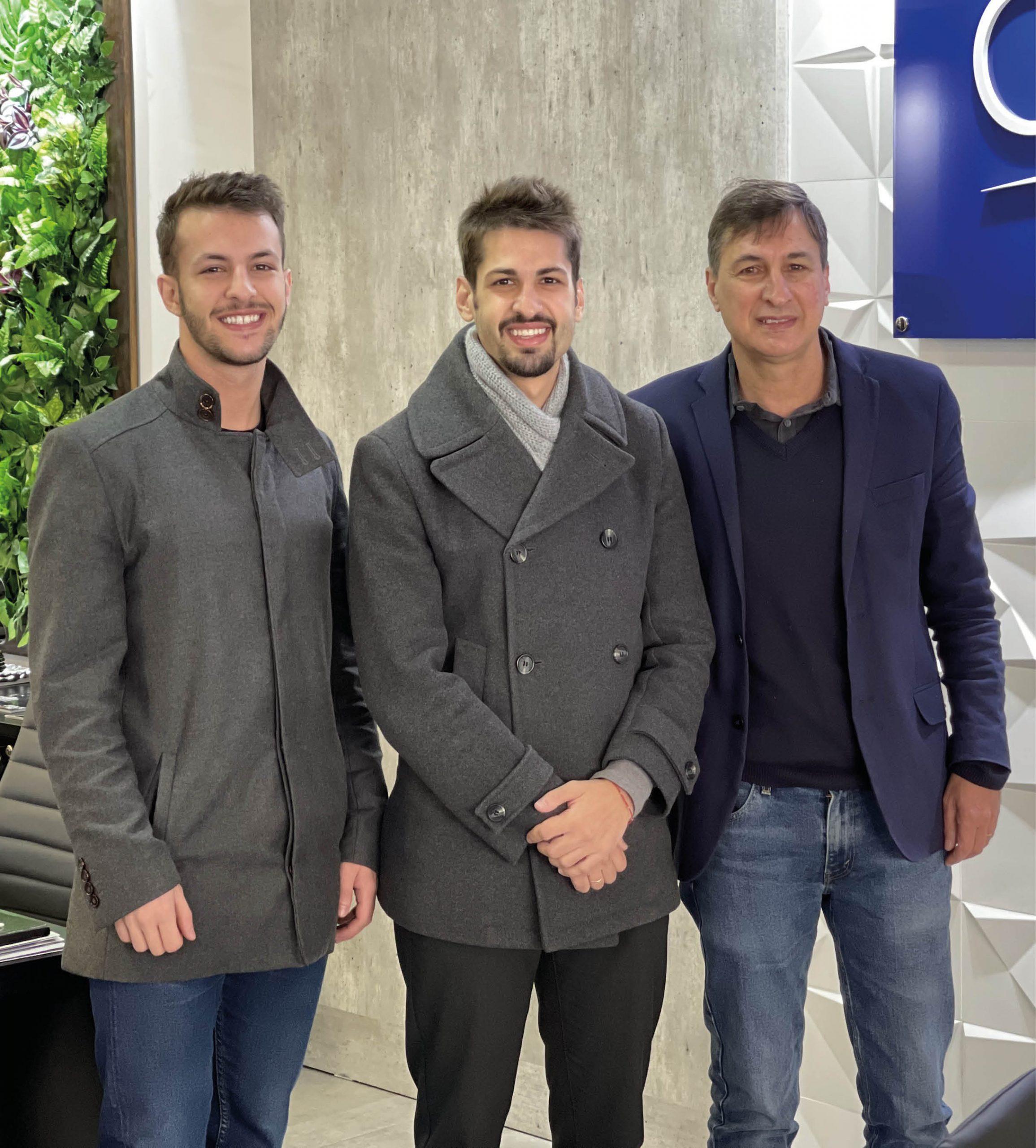 Artur, Vitor e João Alberto Di Fante