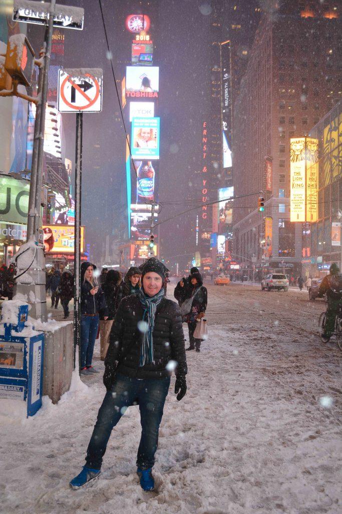 Nevasca na Times Square